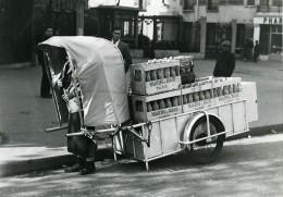 France Paris Transports Urbain Livraison Des Alcools Martini Ancienne Photo Aubry 1940 - Cycling