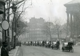 France Paris Transports Urbain Velotaxi Tandem Mariage Ancienne Photo Aubry 1941 - Cyclisme