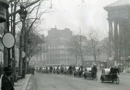 France Paris Transports Urbain Velotaxi Tandem Mariage Ancienne Photo Aubry 1941
