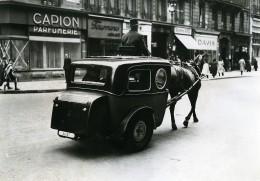 France Paris Transports Urbain Voiture Transformee Cheval Ancienne Photo Aubry 1941