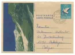 Liechtenstein - Entier Illustré Alpe Matta - Triesenberg 1.7.85 Vers Belgique - Stamped Stationery