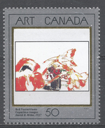 Canada 1992. Scott #1419 (MNH) Painting: Red Nasturtims, By David Milne - 1952-.... Règne D'Elizabeth II