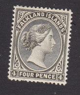 Falkland Islands, Scott #6, Mint Hinged, Queen Victoria, Issued 1895 - Falkland Islands
