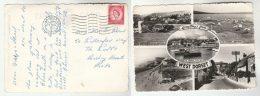 1963 Postcard Burton Bradstock, Chideok , GB Stamps Cover Bridport - England