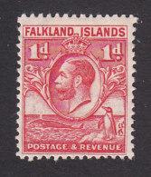 Falkland Islands, Scott #55, Mint Hinged, King George V, Issued 1929 - Falkland Islands