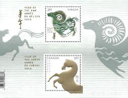 2802a YEAR OF THE RAM  (JANUARY 8, 2015) TRANSITIONAL SOUVENIR SHEET