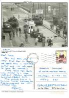 Checkpoint Charlie 1961, Berlin, Germany Postcard Posted 2015 Stamp - Mitte