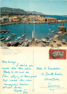 Port, Kyrenia, Cyprus Postcard Posted 1971 Stamp - Chypre