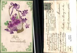 527667,handgemachte Material AK Blumen Blume - Ansichtskarten
