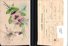 527664,handgemachte Material AK Veilchen Vergissmeinnicht Blume - Ansichtskarten