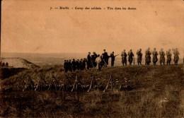 BIVILLE..CAMP DES SOLDATS..TIRS DANS LES DUNES...CPA ANIMEE - Barracks