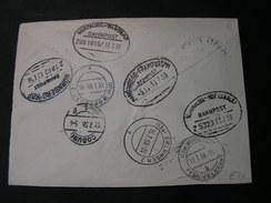 Briefteil , Mit 8 Poststempel Einige Bahnpost  Z.B. Würzburg Bamberg 1958 - Covers & Documents