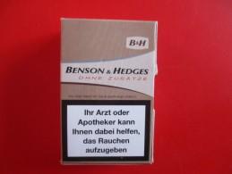 Boite D´allumette Paquet De Cigarette Benson & Hedges - Boites D'allumettes