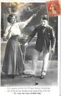 [DC3355] CPA - COPPIA DI GIOCOLIERI - Viaggiata - Old Postcard - Coppie