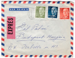 620 Spain 1966 Express Airmail Cover Madrid To Budapest - Exprès