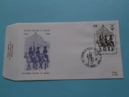 ESCORTE ROYALE à CHEVAL 1938 - 1988 KONINKLIJKE ESCORTE Te PAARD ( F.D.C. P. 880 ) BRUGGE 10-12-1988 ( Zie Foto ) ! - FDC