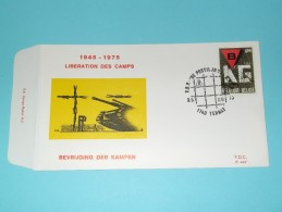 BEVRIJDING Der KAMPEN 1945 - 1975 LIBERATION Des CAMPS ( F.D.C. P. 447 ) TERNAT 3-5-75 ( Zie Foto ) ! - 1971-80