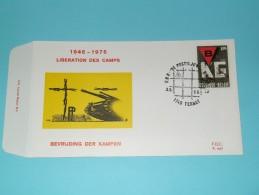 BEVRIJDING Der KAMPEN 1945 - 1975 LIBERATION Des CAMPS ( F.D.C. P. 447 ) TERNAT 3-5-75 ( Zie Foto ) ! - FDC