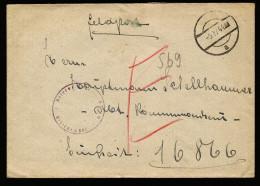 A4286) DR Feldpost Brief Von FP 16866 Mit Stummen Stempel 5.4.44 - Briefe U. Dokumente