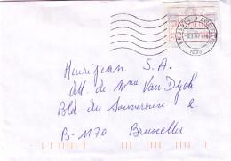 Belgique - Lettre De 1997 - Oblitération Bruxelles - Avec Vignette D´affranchissement - Postage Labels
