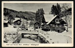 6856 - Alte Ansichtskarte - Glatz - Wölfelsgrund - Hotel Gaststätte Weiss - Waldhaus - Gel 1938 - Herden - Schlesien