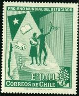 CILE, CHILE, 1960, COMMEMORATIVO, RIFUGIATI, FRANCOBOLLO NUOVO (MLH*), Scott 330 - Cile