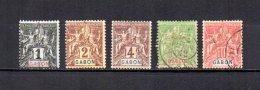 Gabón    1904-07   .-   Y&T  Nº    16/20 - Gabon (1886-1936)