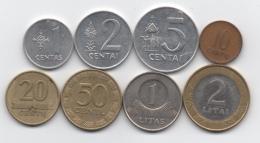 Lituanie : Série De 8 Pièces 1991-2002 - Lituania