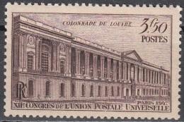 France 1947 Yvert 780 Neuf * Cote (2012) 0.30 Euro Colonnade Du Louvre - France