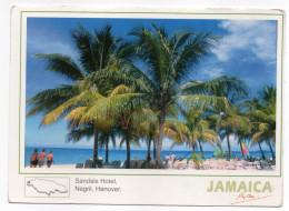 Jamaique-2001---NEGRIL,HANOVER--Sandais Hotel ,cpm éd Perlwinide--timbre Fleur Non Oblitéré Au Verso - Jamaïque