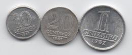 Brésil : Série De 3 Petites Pièces En Aluminium 1957 - Brasil
