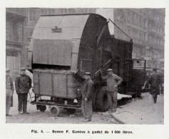 1949 - Iconographie Documentaire - Camion Benne F Genève - FRANCO DE PORT - Camions