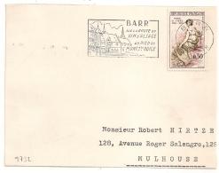 FLAMME BARR Bas Rhin 1961 Sur DEVANT DE LETTRE. - Postmark Collection (Covers)