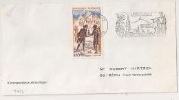 FLAMME ANDLAU Bas Rhin 1972 Sur Enveloppe. - Postmark Collection (Covers)