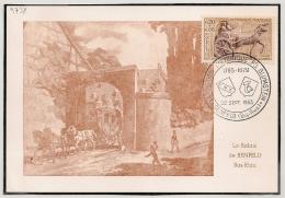 BENFELD Bas Rhin 1963 Sur Carte Le Relais De BENFELD. - Postmark Collection (Covers)