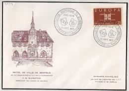 BENFELD Bas Rhin 1963 Sur Enveloppe HOTEL DE VILLE. - Postmark Collection (Covers)