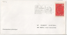 BENFELD Bas Rhin 1973 Sur Enveloppe. Croix Rouge. - Postmark Collection (Covers)