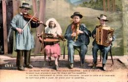 LES DEUX INSTRUMENTS DU MILIEU SONT LIMOUSINS CE SONT LA VIELLE ET LA CHABRETTE CPSM CIRCULEE 1953 - Music