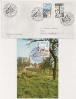 MITTELBERGHEIM  Bas Rhin Sur Une Enveloppe Et Une Carte. 1977. - Postmark Collection (Covers)