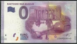 Billet Touristique 0 Euro 2016 BASTOGNE War Muséum Belgique - EURO