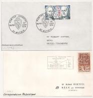 MUTZIG Bas Rhin Alsace ELSASS Sur Un DEVANT Et Une ENVELOPPE. - Postmark Collection (Covers)