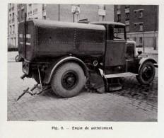 1949 - Iconographie Documentaire - Engin De Nettoiement - FRANCO DE PORT - Camions