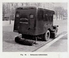 1949 - Iconographie Documentaire - Balayeuse-ramasseuse - FRANCO DE PORT - Camions