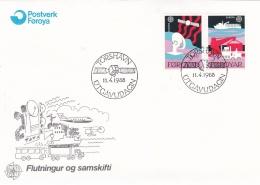 Faroe Islands FDC 1988 Europa CEPT (SKO13-10) - Féroé (Iles)