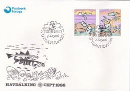 Faroe Islands FDC 1986 Europa CEPT (SKO13-10) - Féroé (Iles)