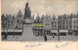 CPA BRUGGE BRUGES  GRAND PLACE ET STATUE DE BREYDEL ET DECONINCK - Brugge