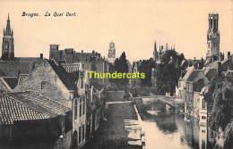 CPA BRUGGE BRUGES  LE QUAI VERT - Brugge