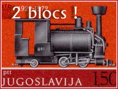 Yougoslavie 1363/64** 2 Feuillets Sheet De 9 Timbres MNH - Treinen