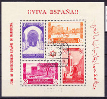 "2016-0584 Marruecos Edifil 168 Hojita Usado O ""Tetuan 28.SEP.37"" - Spanisch-Marokko"