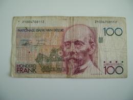 BELGIUM - 100 FRANCS  BELGIE BELGIQUE  BILLET  PAPER  MONEY  +++++ - [ 2] 1831-... : Regno Del Belgio